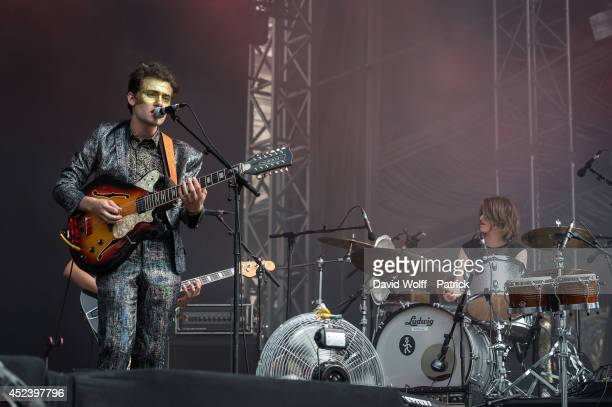 Pablo Padovani from Moodoid performs at Fnac Live Festival on July 19 2014 in Paris France