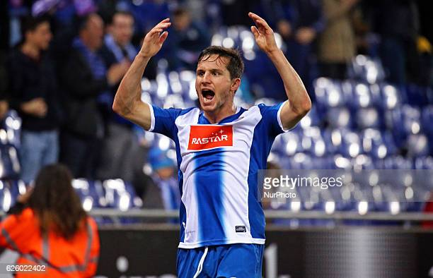 Pablo Piatti celebration during the match between RCD Espanyol and CD Leganes on november 26 2016