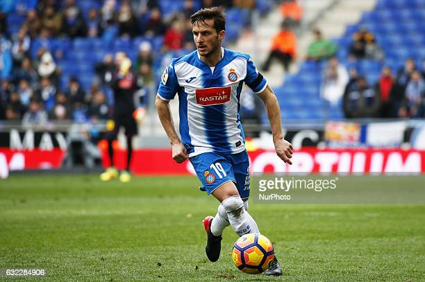 Pablo Piatti during the match between RCD Espanyol and Granada CF on January 21 2017 in Barcelona Spain