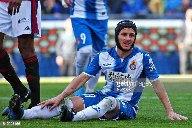 Pablo Piatti during the match between RCD Espanyol and Osasuna on February 26 2017 in Barcelona Spain