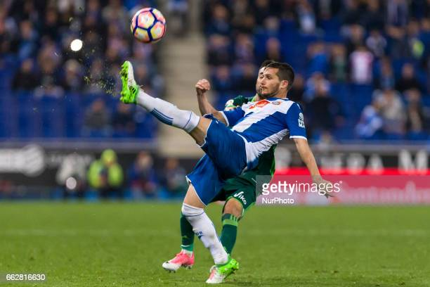Pablo Piatti during the match between RCD Espanyol vs Betis for the round 29 of the Liga Santander played at RCD Espanyol Stadium on 31th March 2017...