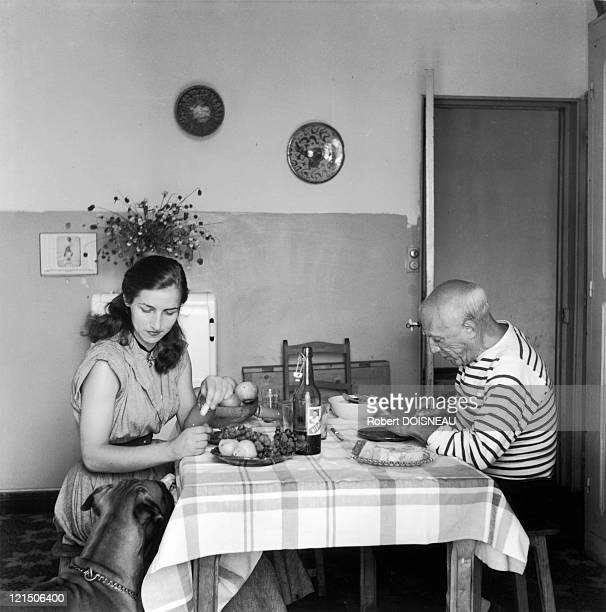 Pablo Picasso And Francoise Gilot In September 1952