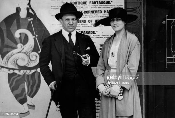 Pablo Picasso and Olga Khokhlova, c. 1918. Private Collection. Strictly for Editorial use only.
