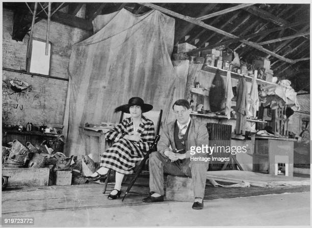 Pablo Picasso and Olga Khokhlova in the painting studio in London 1919 Private Collection Strictly for Editorial use only