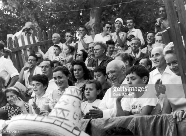 Pablo Picasso assiste à une corrida à Vallauris 1958