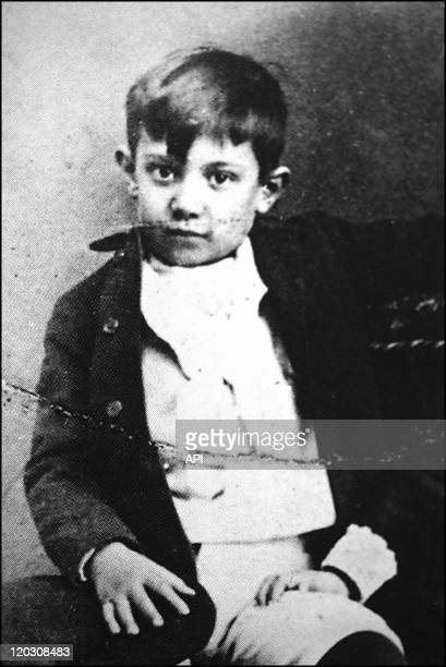 Pablo Picasso at 10 years old on 1891 in Malaga Spain Picasso's native city