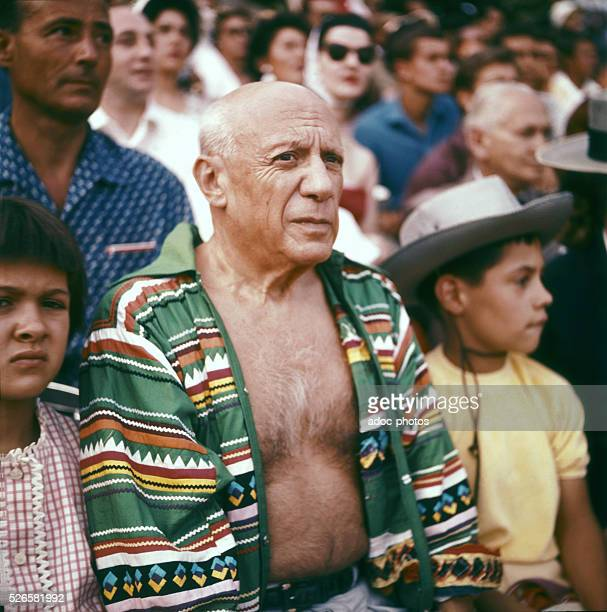 Pablo Picasso at a bullfight in Vallauris In 1952