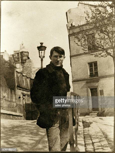 Pablo Picasso Spanish painter At Montmartre place de Ravignan Paris Ca 1904 Paris Mus��e Picasso