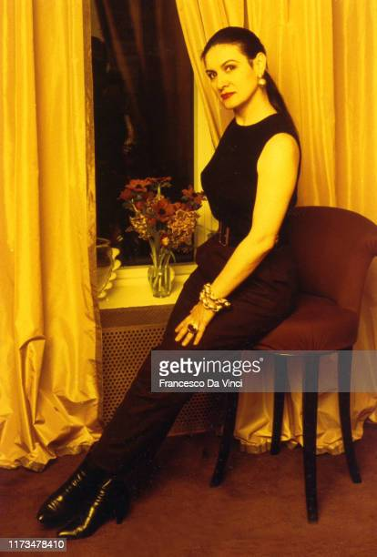 Pablo Picasso's daughter Paloma Picasso poses for a portrait at her office circa 1995 in New York City, New York.