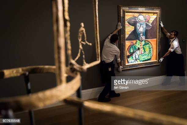 Pablo Picasso's Le Matador makes it's auction debut during the press call before an auction dedicated to Impressionist artworks at Sotheby's on...