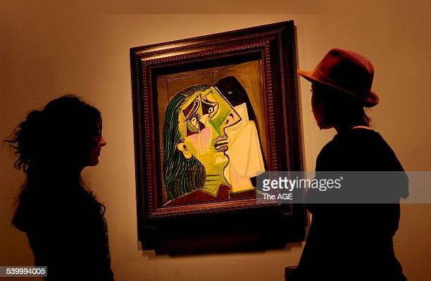 Pablo Picasso's Weeping Woman at the NGV 1937 oil on canvas One of Picasso's other paintings Dora Maar Au Chat featuring the same model Dora Maar as...