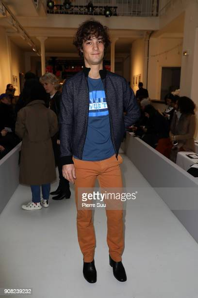Pablo Pillaud Vivien attends the Agnes B Menswear Fall/Winter 20182019 show as part of Paris Fashion Week on January 21 2018 in Paris France