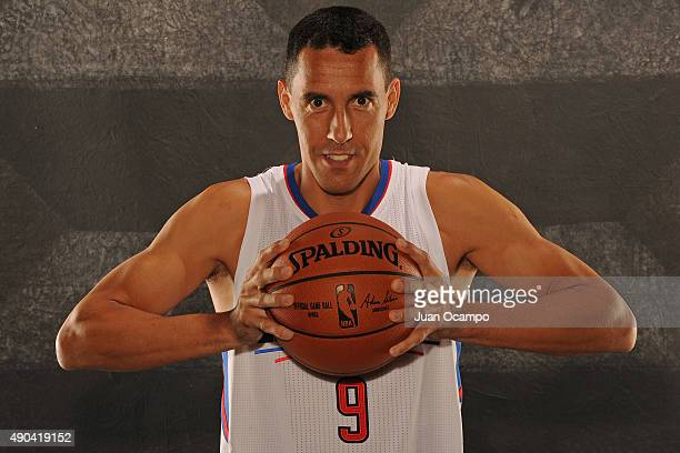 Pablo Prigioni of the Los Angeles Clippers poses for a portrait during media day at the Los Angeles Clippers Training Center on September 25 2015 in...