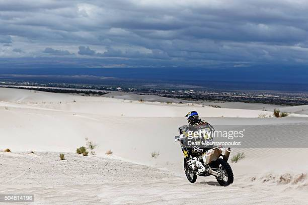 Pablo Quintanilla of Chile riding on and for HUSQVARNA 450 RALLY ROCKSTAR ENERGY HUSQVARNA FACTORY RACING competes on day 11 stage ten between Belen...