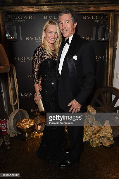 Pablo Roemmers and Catherine Roemmers attend Bulgari High Jewelry Event St Moritz on February 14 2015 in St Moritz Switzerland