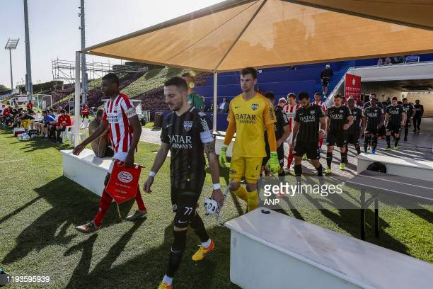 Pablo Rosario of PSV, Danijel Milicevic of KAS Eupen, KAS Eupen goalkeeper Ortwin De Wolf, during a international friendly match between PSV...