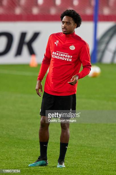 Pablo Rosario of PSV Eindhoven looks on during training session ahead of the UEFA Europa League Group E stage match between PSV Eindhoven and Granada...