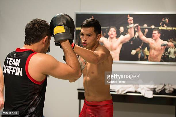 Pablo Sabori warms up before facing Santiago Cardenas during the filming of The Ultimate Fighter Latin America Team Liddell vs Team Griffin on May 20...