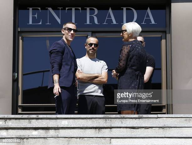 Pablo Saez attends the funeral chapel for the fashion designer David Delfin at Dress Museum on June 4 2017 in Madrid Spain