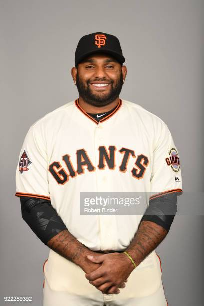 Pablo Sandoval of the San Francisco Giants poses during Photo Day on Tuesday February 20 2018 at Scottsdale Stadium in Scottsdale Arizona