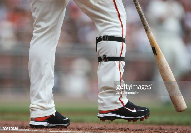 Pablo Sandoval of the San Francisco Giants prepares to bat against the Los Angeles Dodgers during a Major League Baseball game at AT&T Park on...