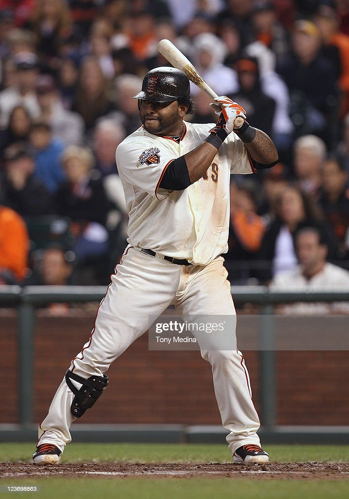 Pablo Sandoval #48 of the San Francisco Giants up to bat during a game against the Arizona Diamondbacks at AT&T Park on September 3, 2011 in San Francisco, California.