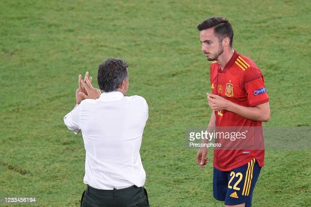 Pablo Sarabia of Spain during the match between Spain and Sweden of Euro 2020, group E, matchday 1, played at La Cartuja Stadium on June 14, 2021 in...