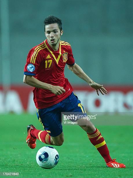 Pablo Sarabia of Spain U21 during the UEFA U21 Championship match between Spain U21 and Netherlands U21 on June 12 2013 at the Ha Moshava stadium in...