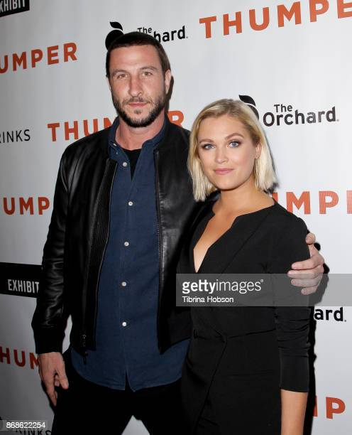 Pablo Schreiber and Eliza Taylor attend the premiere of 'Thumper' at the Egyptian Theatre on October 30 2017 in Hollywood California