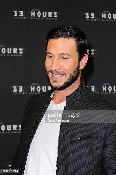 Pablo Schreiber attends Miami Special Screening of '13 Hours The Secret Soldiers of Benghazi ' at Aventura Mall on January 7 2016 in Miami Florida