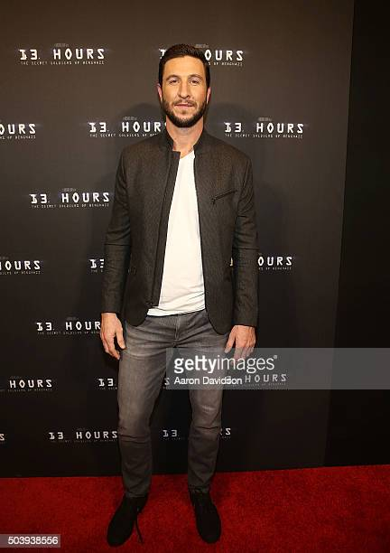 Pablo Schreiber attends Miami Special Screening of '13 Hours The Secret Soldiers of Benghazi' at Aventura Mall on January 7 2016 in Miami Florida