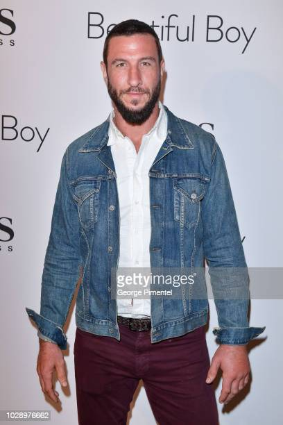 Pablo Schreiber attends the Beautiful Boy afterparty hosted by Amazon Studios Hugo Boss during 2018 Toronto International Film Festival at Soho House...