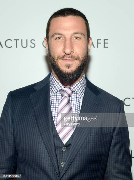"""Pablo Schreiber attends the Cactus Club Cafe and Audi Celebrate """"The Hummingbird Project"""" Starring Salma Hayek, Jesse Eisenberg and Alexander..."""