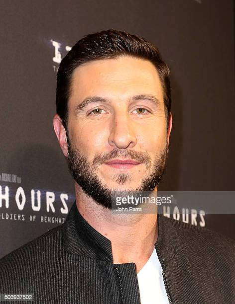 Pablo Schreiber attends the Miami Fan Screening of the Pramount Pictures film '13 Hours' at the AMC Aventura on January 7 2016 in Miami Florida