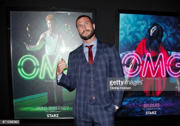 Pablo Schreiber attends the premiere of Starz's 'American Gods' at ArcLight Cinemas Cinerama Dome on April 20, 2017 in Hollywood, California.