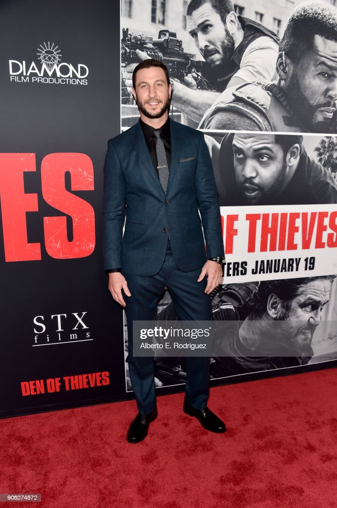 Pablo Schreiber attends the premiere of STX Films' 'Den of Thieves' at Regal LA Live Stadium 14 on January 17, 2018 in Los Angeles, California.