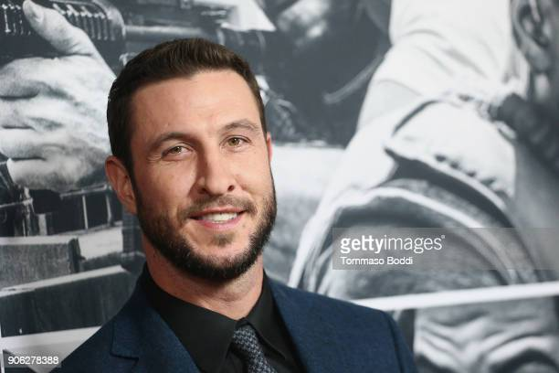 Pablo Schreiber attends the Premiere Of STX Films' 'Den Of Thieves' at Regal LA Live Stadium 14 on January 17 2018 in Los Angeles California