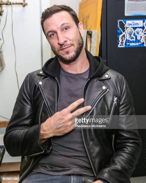 Pablo Schreiber in the green room at The Den Of Thieves special screening at Regal South Beach on January 10 2018 in Miami Florida
