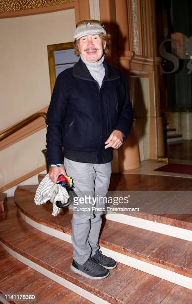 Pablo Sebastian attends a funeral chapel for Alberto Cortez on April 05 2019 in Madrid Spain