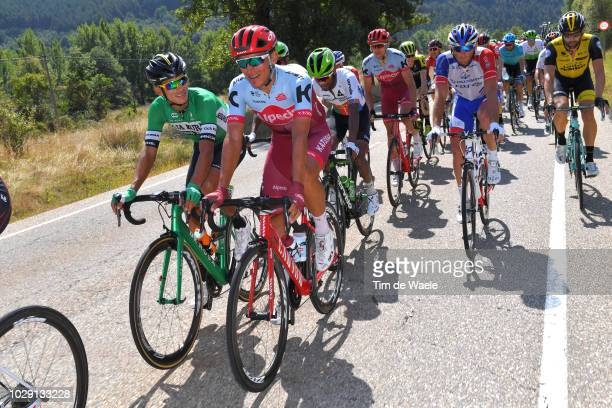 Pablo Torres of Spain and Team Burgos -BH / Jhonatan Restrepo of Colombia and Team Katusha Alpecin / during the 73rd Tour of Spain 2018, Stage 14 a...