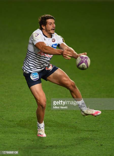Pablo Uberti of Bordeaux-Begles in action during the European Rugby Challenge Cup Semi Final match between Bristol Bears and Bordeaux-Begles at...