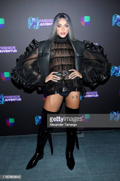 Pablo Vittar attends Premios Juventud 2019 at Watsco Center on July 18 2019 in Coral Gables Florida