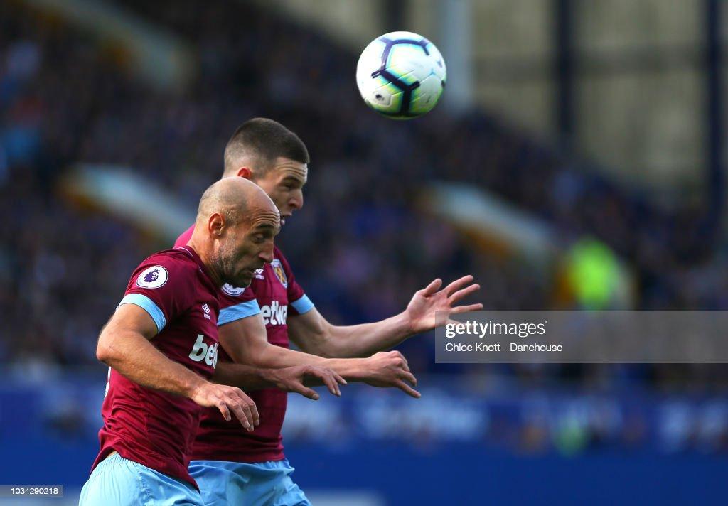 Everton FC v West Ham United - Premier League : Nachrichtenfoto