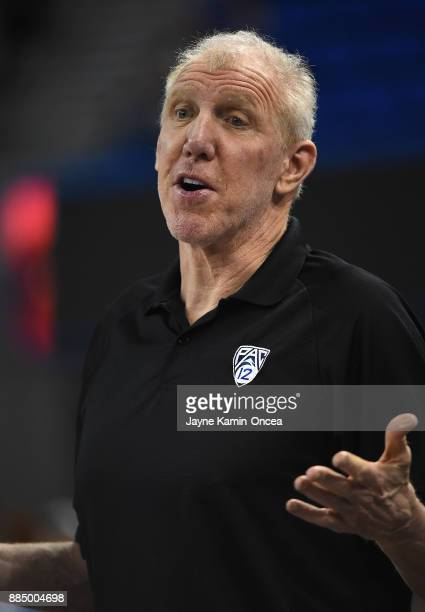 Pac12 Networks' basketball analyst Bill Walton before the game between the UCLA Bruins and the Detroit Mercy Titans at Pauley Pavilion on December 3...