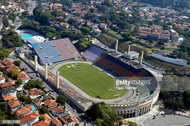 Pacaembu Stadium in Sao Paulo Brazil