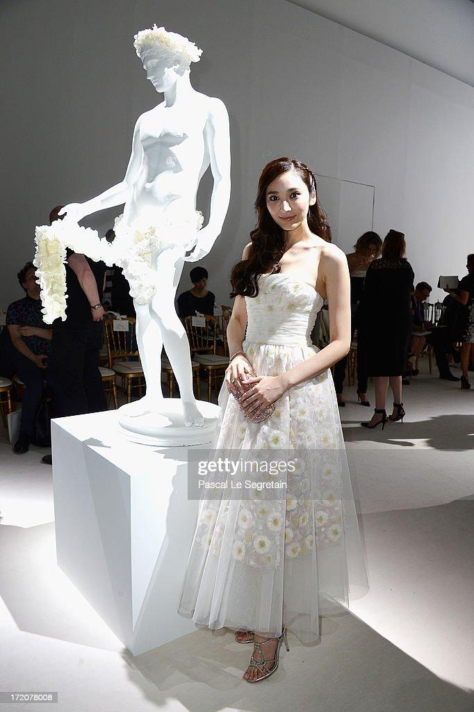 Giambattista Valli: Front Row - Paris Fashion Week Haute-Couture F/W 2013-2014