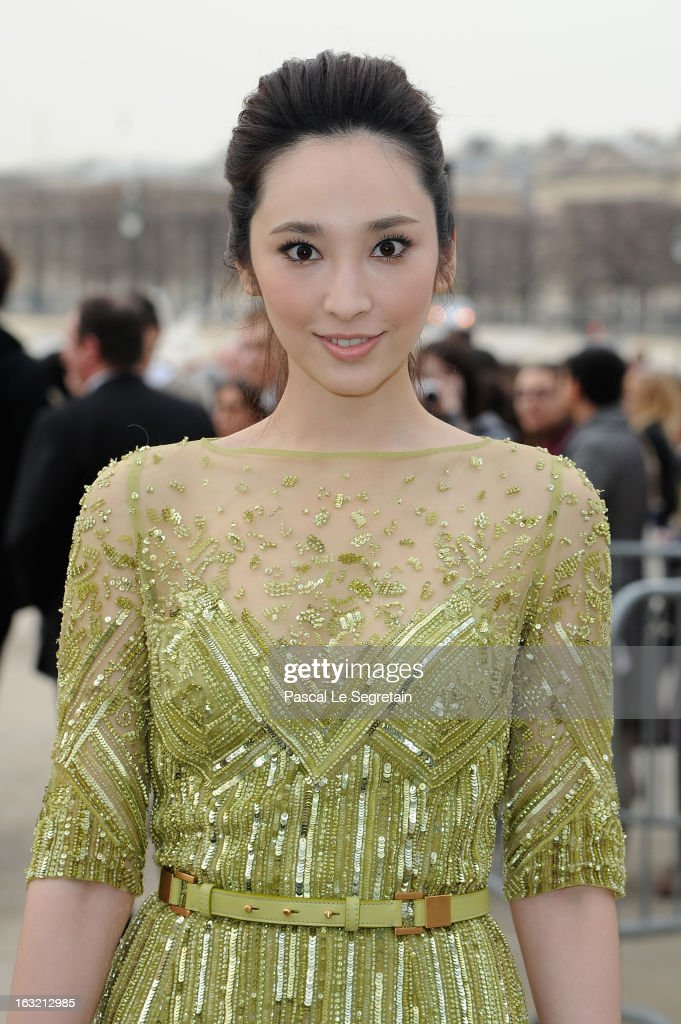 Pace Wu Pei Ci attends the Elie Saab Fall/Winter 2013 Ready-to-Wear show as part of Paris Fashion Week on March 6, 2013 in Paris, France.