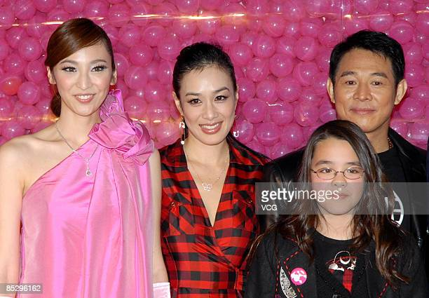 Pace WuChristy Chung and her daughter and Jet Li attend the opening ceremony of Barbie flagship store on March 6 2009 in Shanghai China