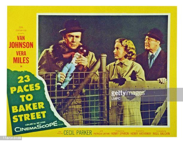 23 Paces To Baker Street US lobbycard from left Van Johnson Vera Miles Cecil Parker 1956