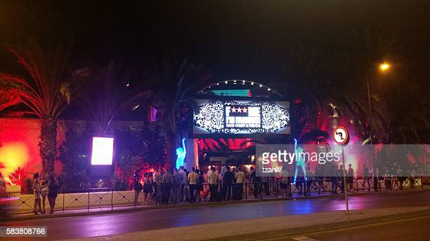 pacha is a nightclub  in ibiza, spain - ibiza island stock pictures, royalty-free photos & images